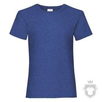 Camisetas Fruit of the Loom Value niña K color Retro Heather Royal :: Ref: R6