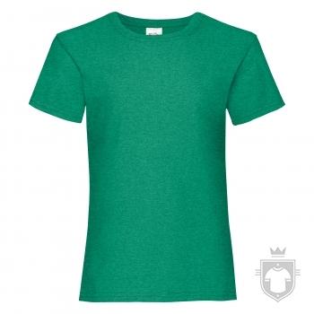 Camisetas Fruit of the Loom Value niña K color Retro Heather Green :: Ref: RX