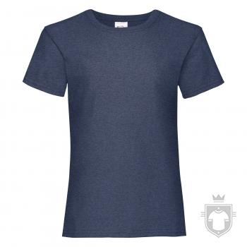 Camisetas Fruit of the Loom Value niña K color Vintage Heather Navy :: Ref: VF