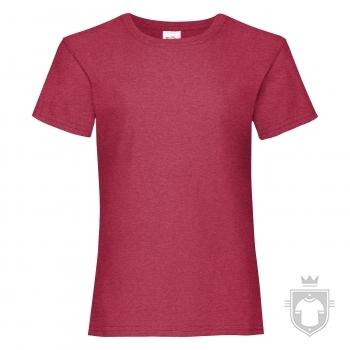 Camisetas Fruit of the Loom Value niña K color Vintage Heather Red :: Ref: VH