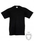Camisetas Fruit of the Loom Original Kids color Black :: Ref: 36