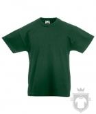 Camisetas Fruit of the Loom Original Kids color Bottle Green :: Ref: 38
