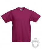 Camisetas Fruit of the Loom Original Kids color Burgundy :: Ref: 41