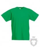 Camisetas Fruit of the Loom Original Kids color Kelly Green :: Ref: 47