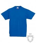 Camisetas Fruit of the Loom Original Kids color Royal Blue :: Ref: 51
