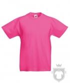 Camisetas Fruit of the Loom Original Kids color Fuchsia :: Ref: 57