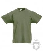 Camisetas Fruit of the Loom Original Kids color Classic Olive :: Ref: 59