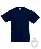 Camisetas Fruit of the Loom Original Kids color Deep Navy :: Ref: AZ