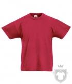 Camisetas Fruit of the Loom Original Kids color Brick Red :: Ref: BX