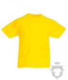 Camisetas Fruit of the Loom Original Kids color Yellow :: Ref: K2