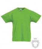 Camisetas Fruit of the Loom Original Kids color Lime :: Ref: LM