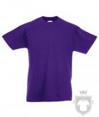 Camisetas Fruit of the Loom Original Kids color Purple :: Ref: PE