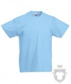 Camisetas Fruit of the Loom Original Kids color Sky Blue :: Ref: YT
