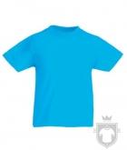 Camisetas Fruit of the Loom Original Kids color Azure Blue :: Ref: ZU