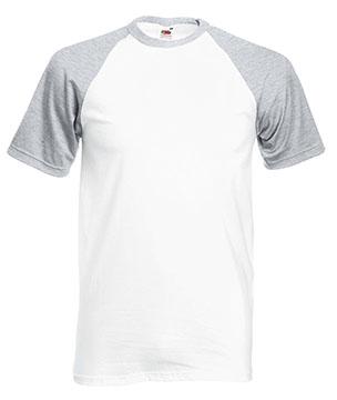 Camisetas Fruit of the Loom Baseball color White / Heather grey :: Ref: WF
