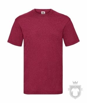 Camisetas Fruit of the Loom Value color Vintage Heather Red :: Ref: VH