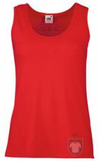 Camisetas Fruit of the Loom Atleta W color Red :: Ref: 40