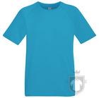 Camisetas Fruit of the Loom Performance color Azure Blue :: Ref: ZU