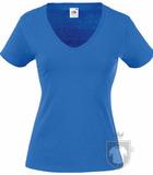 Camisetas Fruit of the Loom Value cuello V  Lady color Royal Blue :: Ref: 51