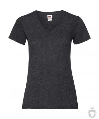 Camisetas Fruit of the Loom Value cuello V  Lady color Dark Heather Grey :: Ref: HD