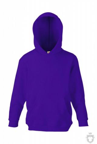 Sudaderas Fruit of the Loom Capucha Kids color Purple :: Ref: PE