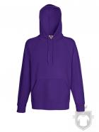 Sudaderas Fruit of the Loom Lightweight Capucha color Purple :: Ref: PE