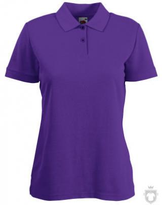 Polos Fruit of the Loom Poliester algodon W color Purple :: Ref: PE