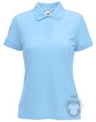 Polos Fruit of the Loom Poliester algodon W color Sky Blue :: Ref: YT