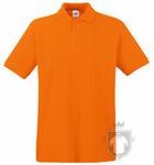Polos Fruit of the Loom Piqué Premium color Orange :: Ref: 44