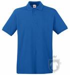 Polos Fruit of the Loom Piqué Premium color Royal Blue :: Ref: 51
