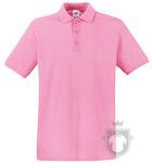 Polos Fruit of the Loom Piqué Premium color Light Pink :: Ref: 52