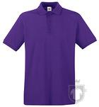 Polos Fruit of the Loom Piqué Premium color Purple :: Ref: PE