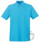 Polos Fruit of the Loom Piqué Premium color Azure Blue :: Ref: ZU