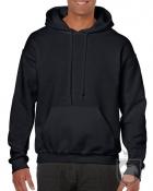 Sudaderas Gildan Heavy Capucha color Black :: Ref: 036