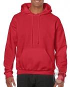 Sudaderas Gildan Heavy Capucha color red :: Ref: 040