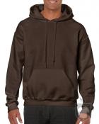 Sudaderas Gildan Heavy Capucha color dark chocolate :: Ref: 105