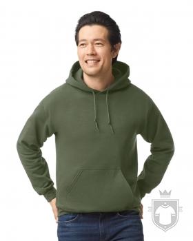 Sudaderas Gildan Heavy Capucha color military green :: Ref: 106