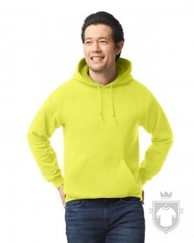 Sudaderas Gildan Heavy Capucha color safety green :: Ref: 188