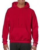 Sudaderas Gildan Heavy Capucha color cherry red :: Ref: 194