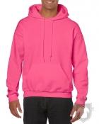 Sudaderas Gildan Heavy Capucha color safety pink :: Ref: 263