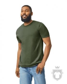 Camisetas Gildan Ring Spun    color military green :: Ref: 106