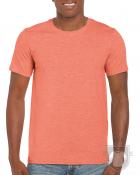 Camisetas Gildan Ring Spun    color Heather Orange :: Ref: 259