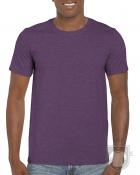 Camisetas Gildan Ring Spun    color Heather Aubergine :: Ref: 479