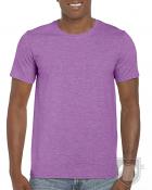 Camisetas Gildan Ring Spun    color Heather Radiant Orchid :: Ref: 745