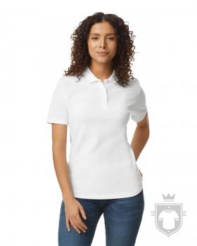 Polos Gildan Doble Piqué Softsyle W color White :: Ref: 030