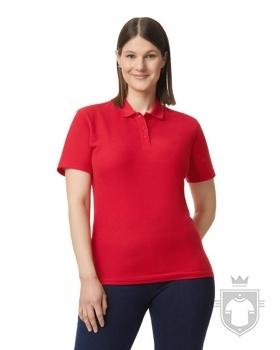 Polos Gildan Doble Piqué Softsyle W color red :: Ref: 040