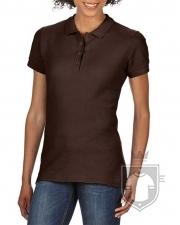Polos Gildan Doble Piqué Softsyle W color dark chocolate :: Ref: 105