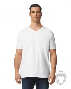 Camisetas Gildan Cuello V color White :: Ref: 030