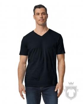 Camisetas Gildan Cuello V color Black :: Ref: 036