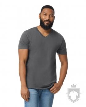 Camisetas Gildan Cuello V color charcoal :: Ref: 042